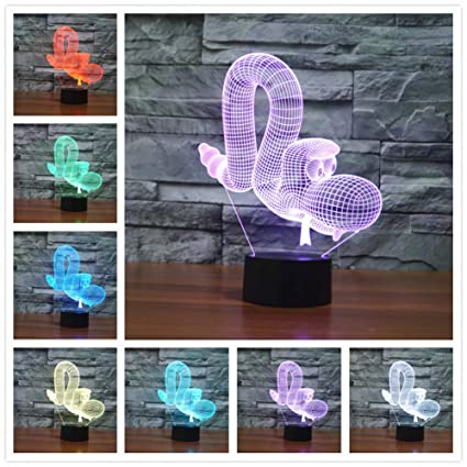 Amazon.com: Aetd Lamparas 3D Led Desk Lamp Mood Lamp for ...