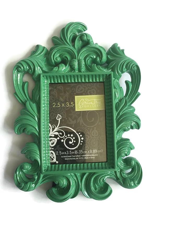 BRIGHT glänzend Barock Foto Bilderrahmen aus Kunstharz, Baum grün ...