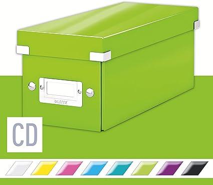 Leitz Caja para Guardar CDs, Verde, Gama Click & Store, 60410054: Amazon.es: Oficina y papelería