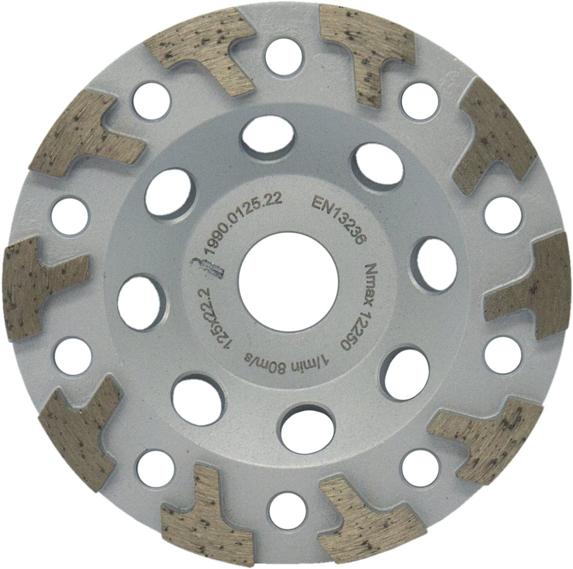MARCRIST Diamond cup wheel HU850 125 mm x 22.2 universal grinding disc