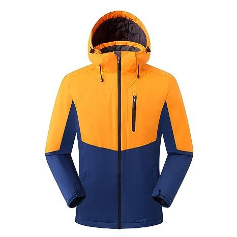 Eono Essentials - Chaqueta de esquí para hombre (naranja, M)
