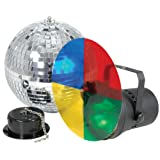 qtx Disco Party Light Set with Motorised Mirror Ball