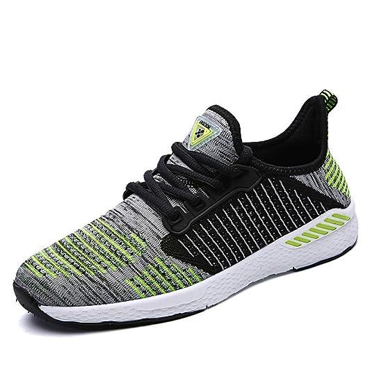 BAINASIQI Uomo Donna Sneaker Scarpe da Sportive Respirabile all aperto Scarpe  da corsa Mesh Ginnastica Sneakers Unisex (EU 42 2924faf19dd