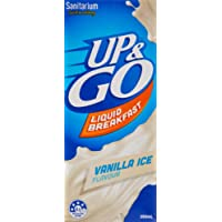 UP&GO Vanilla Ice Flavour Liquid Breakfast Drink, 12 x 350 Milliliters