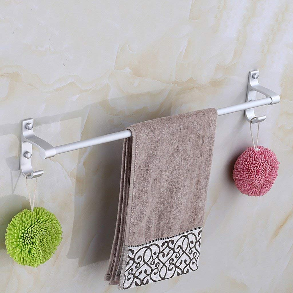 high-quality EQEQ Punch Space Aluminum Towel Rail Towel Rail Single Towel Bar Hanging Bath Rooms Bath Rooms Accessories (Size: 50Cm).
