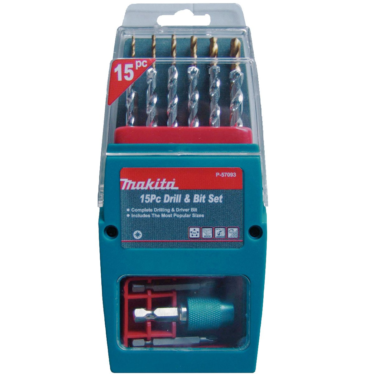Multi-Colour Makita P-51954 Countersink Set 4-Piece