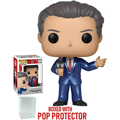 Funko Pop! WWE: Vince McMahon Vinyl Figure (Bundled with Pop Box Protector Case): Toys & Games