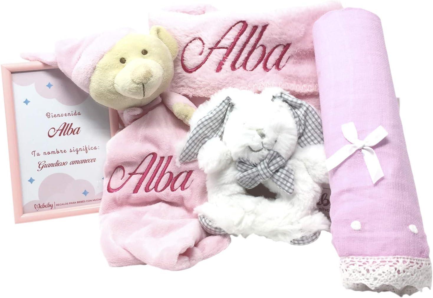 Cesta de Bebé Candy Sweet | Set Regalo Bebé Personalizado | Canastilla Bebé