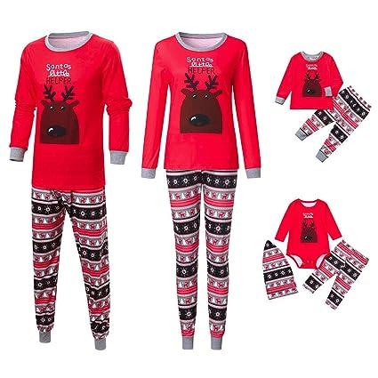 1c5946c29d8a Amazon.com  Gufenban Christmas Set Family Pajamas Matching Men Daddy ...