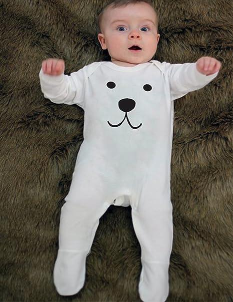 Oso Polar bebé para niño/bebé traje de bebé Moo del oso cara ...