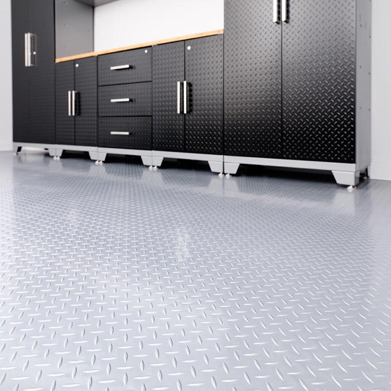 Versaroll pro 8 ft x 20 ft pvc garage flooring floor parking pvc garage flooring floor parking mats amazon canada dailygadgetfo Gallery