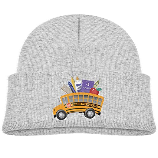 c8bba3c8996 Image Unavailable. Image not available for. Color  Back to School Bus  Beanie Cap ...