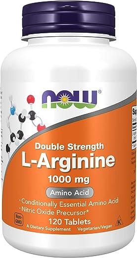 Now Supplements,L-精氨酸 1000 毫克,一氧化氮前体,氨基酸,120 片 – 全新