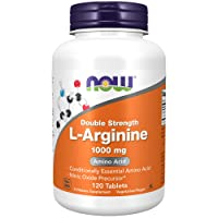 NOW Supplements, L-Arginine 1,000 mg, Nitric Oxide Precursor, Amino Acid, 120 Tablets