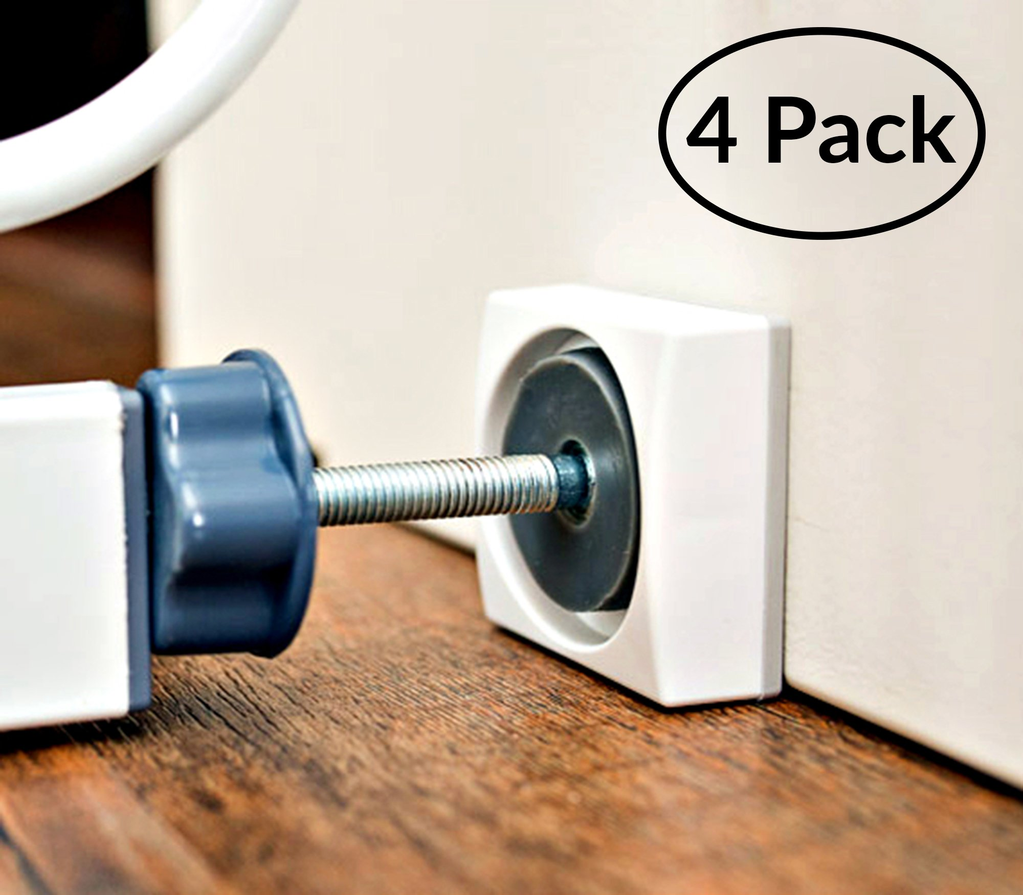 Wall Nanny Mini - Smallest Baby Gate Wall Protector - Low-Profile (Made in USA) for Dog & Pet Gates - Perfect in Doorways - Cups Protect Walls from Kid Child Safety Pressure Gates - Guard Saver by Wall Nanny