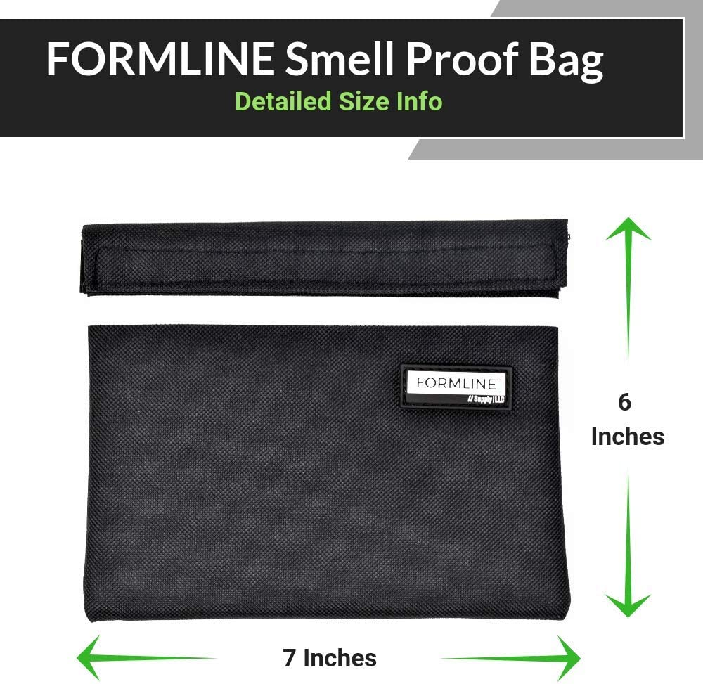 by Formline Supply Premium Pouch with Mesh Organi Smell Proof Bag 7x6 inches