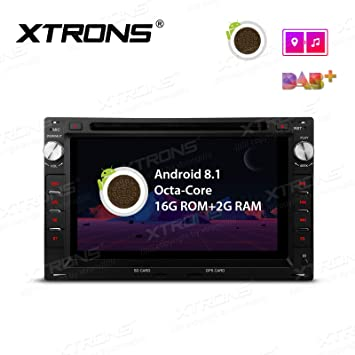 XTRONS Android 8.1 Coche estéreo Octa Core 7 Pulgadas HD Digital Multitáctil Unidad de Cabeza de