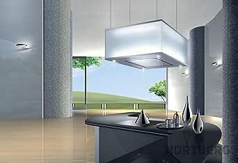 Nortberg Prince - Campana extractora (acero inoxidable, 60 cm), color blanco: Amazon.es: Grandes electrodomésticos