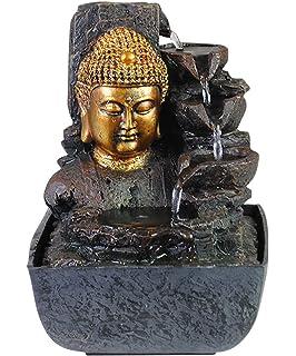Amazon.de: Brunnen Buddha Zimmerbrunnen mit LED Wohnung ...