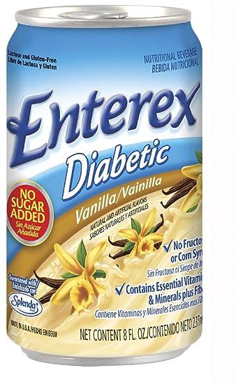 Victus Inc Enterex Diabetic, Vanilla-8 oz Can - 24 Per Case