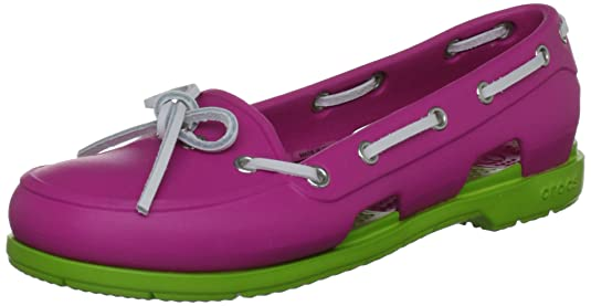 Crocs Women's Beach Line Sneakers Boat Shoes at amazon