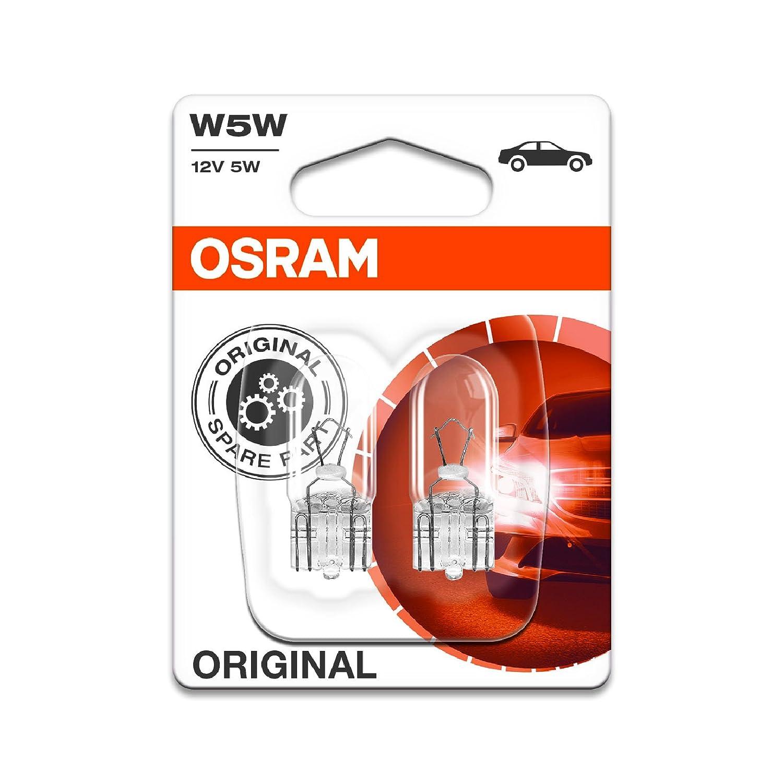 2x Genuine Osram Original W5W (501) 5w 12v Clear Bulbs [2825-02B] - Part Number 2825-02B