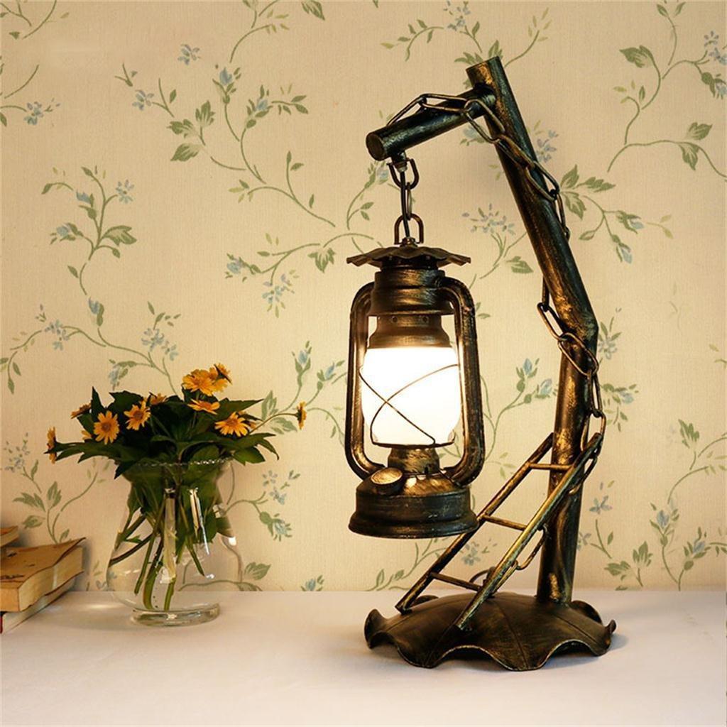 Shopping Retro Dekorative Schmiedeeiserne Tischlampe Schlafzimmer Wohnzimmerlampe Kreative Klassisch Altmodischen Kerosin Lampe Amazonde Beleuchtung