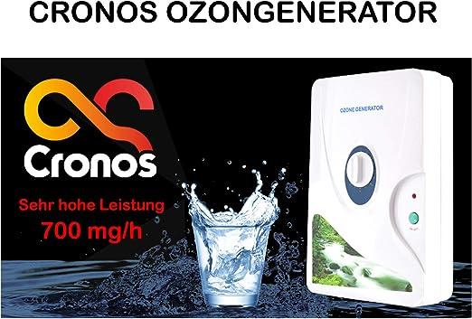 CRONOS - Generador de ozono y ionizador 2 en 1 para aire, agua y alimentos - solo para