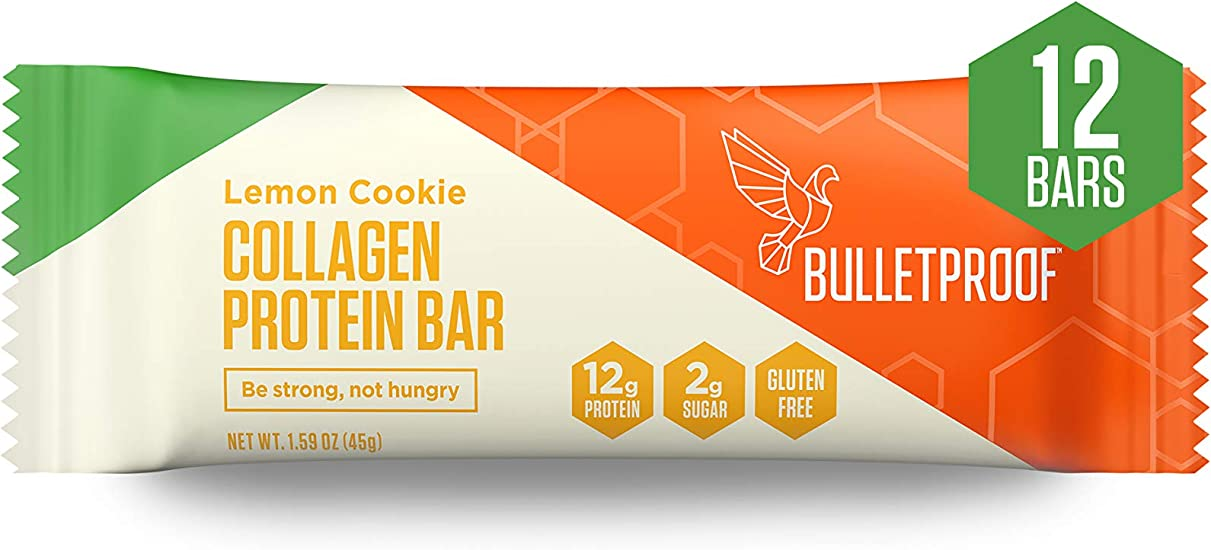 Collagen Protein Bars, Lemon Cookie Flavor