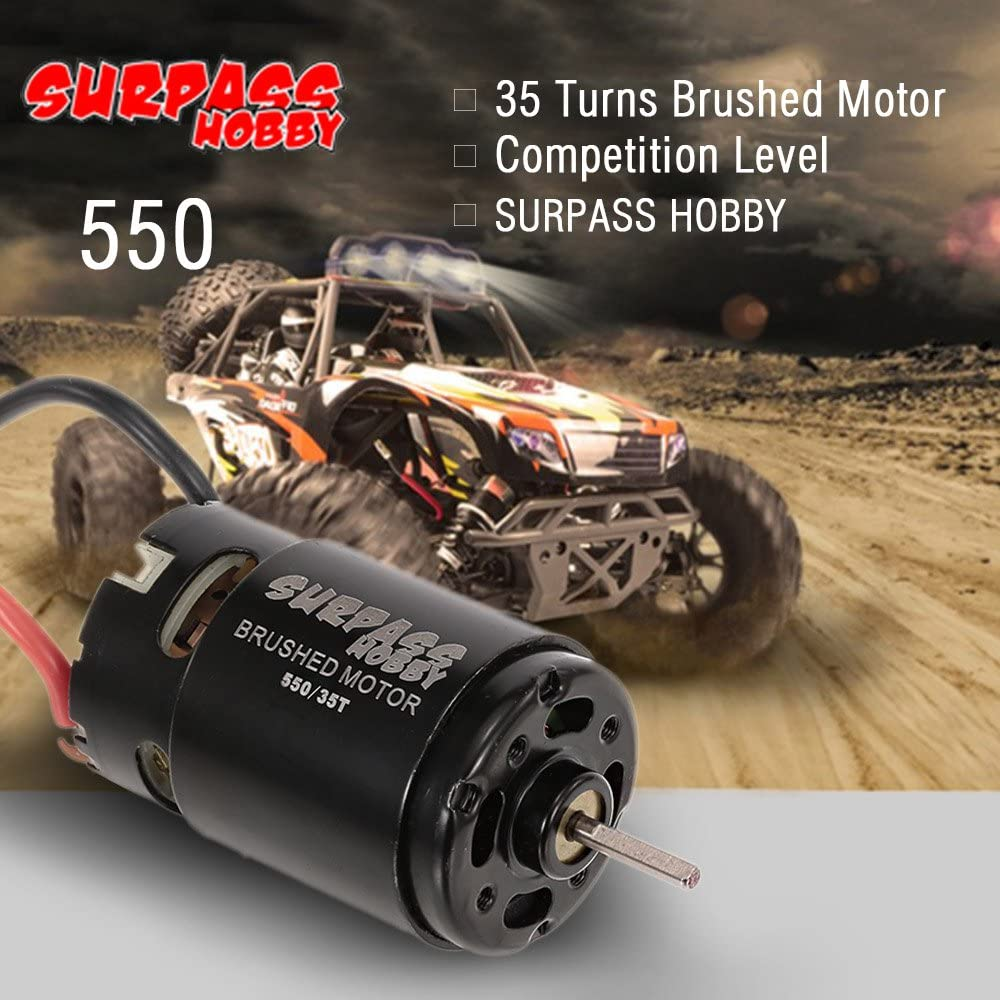 Globact 550 35T Brushed Motor for HSP HPI Wltoys Kyosho TRAXXAS 1//10 RC Car Off-Road Crawler Vehicle