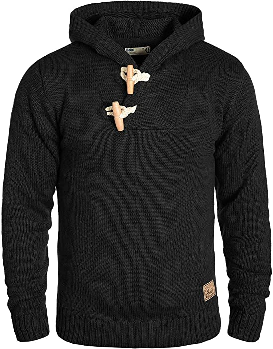 06335f4c4 Solid Palmer Pull en Grosse Maille À Capuche Pull-Over Tricot pour ...