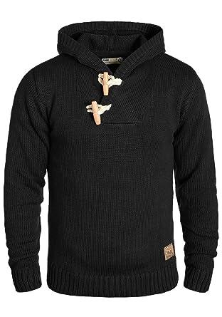 Solid Palmer Herren Winter Pullover Strickpullover Kapuzenpullover  Grobstrick Pullover mit Kapuze, Größe S 614aa9d0c1
