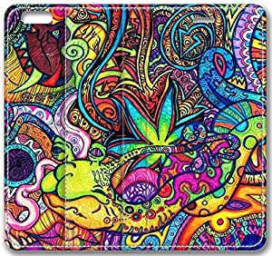 "Abstract Artistic Psychedelic Leather Cover for iPhone 6 Plus(5.5"")"