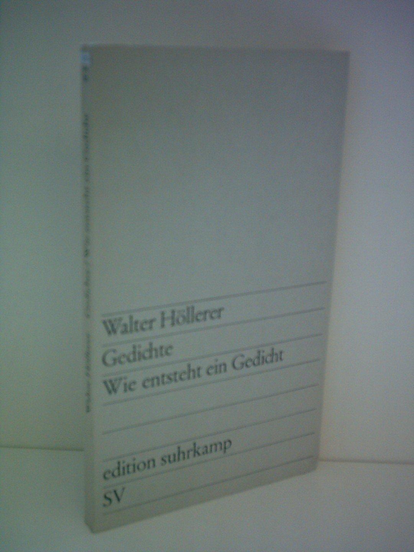 Gedichte Wie Entsteht Ein Gedicht Amazonde Walter
