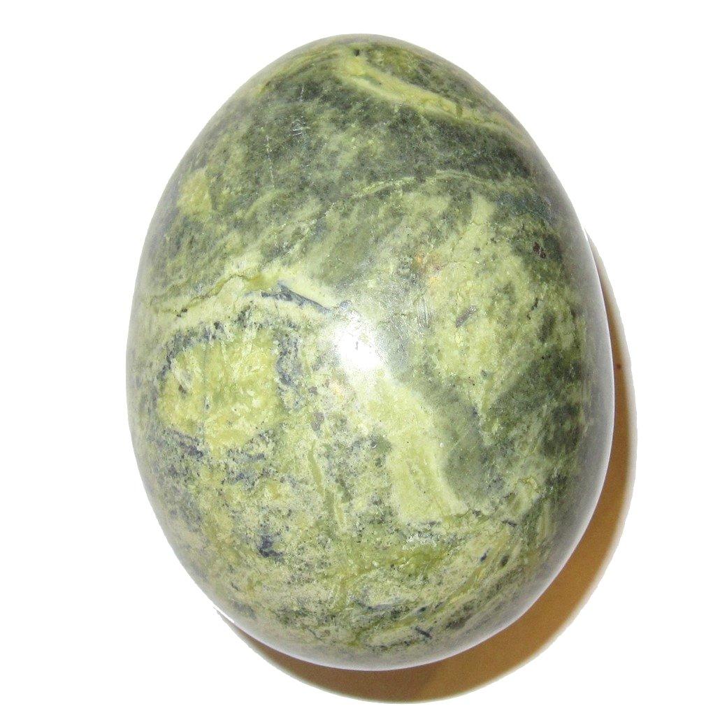 Serpentine Egg 53 Green Snake Serpent Animal Spirit Guide Crystal Wisdom Energy Easter Stone 2.9''