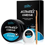 Teeth Whitening Powder Activated Charcoal Coconut -2.1oz(60g)-Teeth Whitening Kit-Bamboo Toothbrush and Teeth Floss…