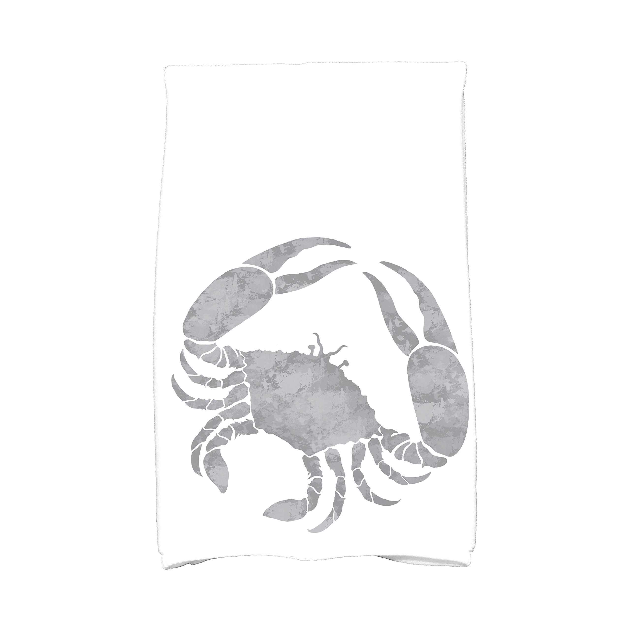E by design KTAN467GY2GY1 Crab Animal Print Kitchen Towel, 16'' x 25'', Gray