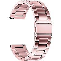 Fullmosa roestvrijstalen armband watch band metalen horlogebanden met snelsluiting geschikt voor dames en heren, 16 mm…