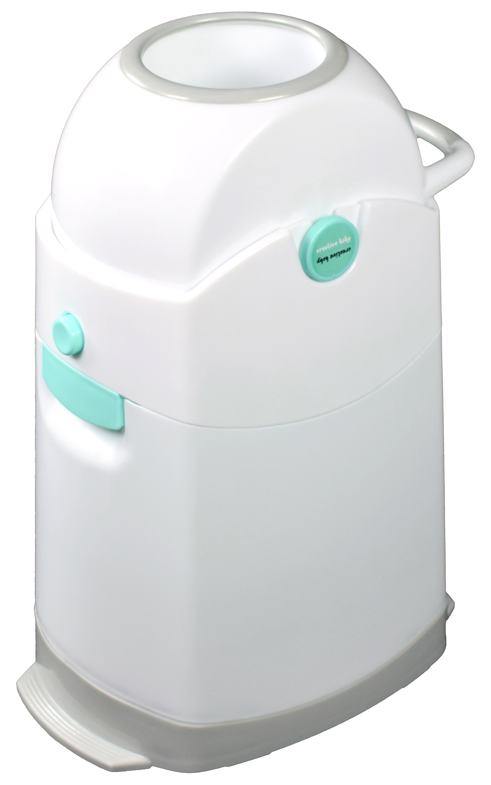 Creative Baby Tidy Diaper Pail, Pearl, Pearl/Blue/White/Gray, One Size by Creative Baby