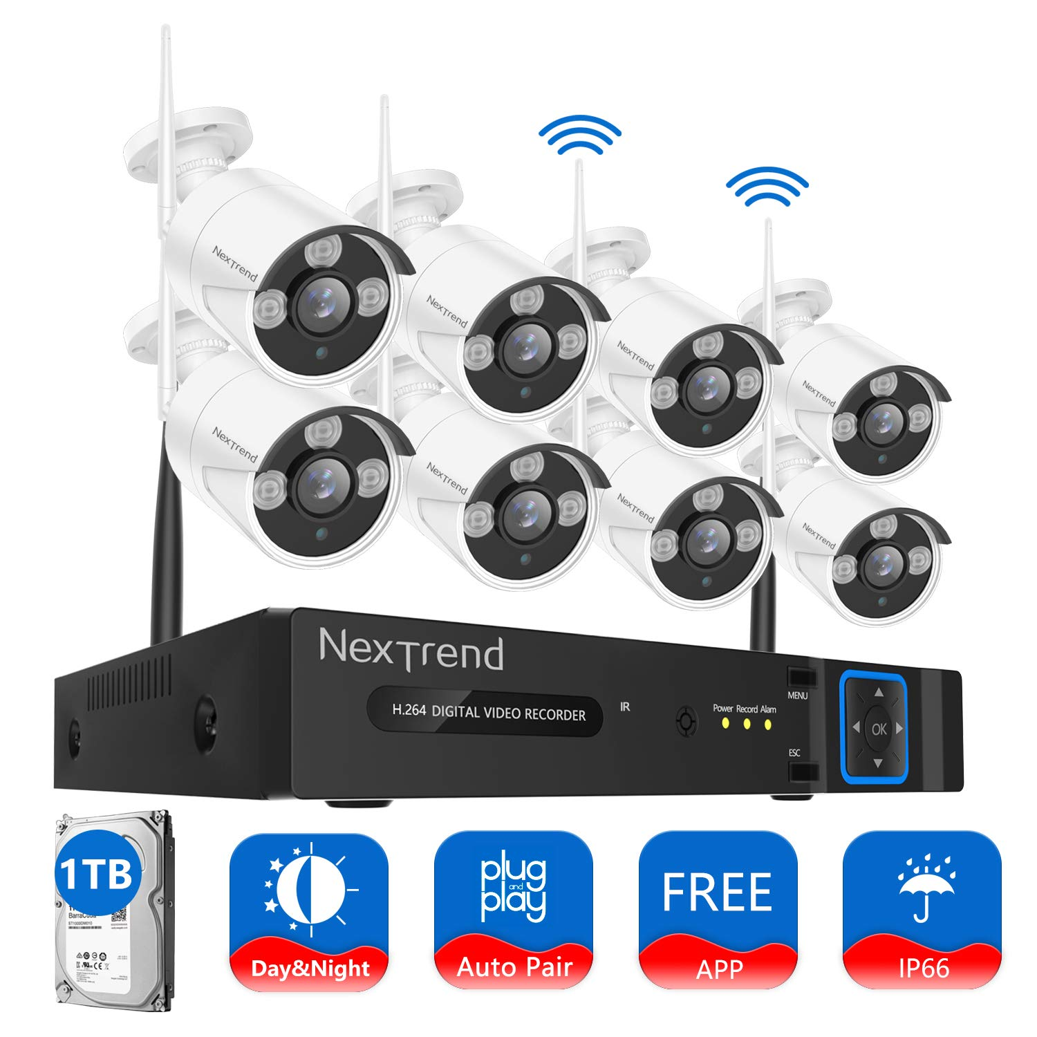 NexTrend 8CH Video Security Camera System