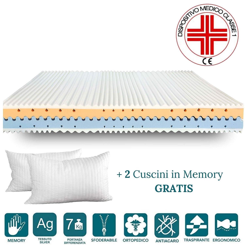 EvergreenWeb colchones & Beds EvergreenWeb - Colchón Memory Foam Med Alto 25 cm Confort Onda 4: ...