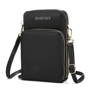 fbabb7999 JOSEKO Crossbody Bag, Women Solid PU Leather Clutch Bag Card Bag ...