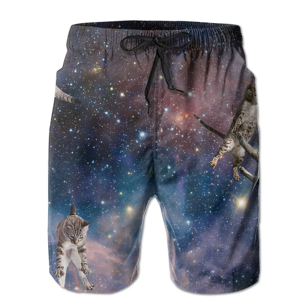 Ruin Beach Shorts Starry Sky Mens Fashion Board Shorts Mens Sleep Quick Dry Swim Trunks Beach Shorts