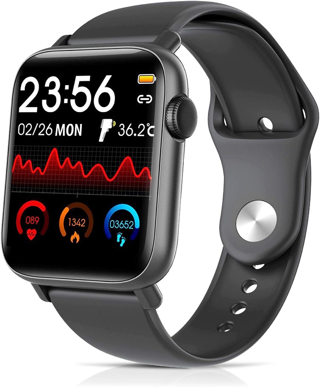 CENTECH-Reloj termómetro Hombre Mujer Mujer Chica Chico chico smartwatch salud temperatura corporal Tacto inteligente Deportivo a prueba de agua Podómetro Rastreador monitor de ritmo cardíaco tensióme