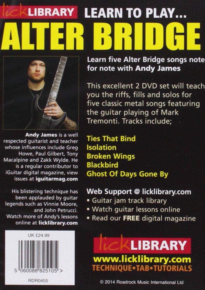 Amazon com: Lick Library: Learn To Play Alter Bridge [DVD