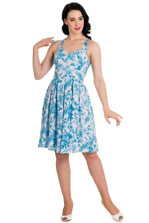 Hell Bunny - Damen Kleid 'Esme' Tropisch Sommer Blumenmuster