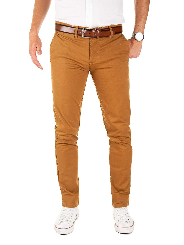 Yazubi Hombre Pantalones Chinos con Cinturón Vaquero Dustin