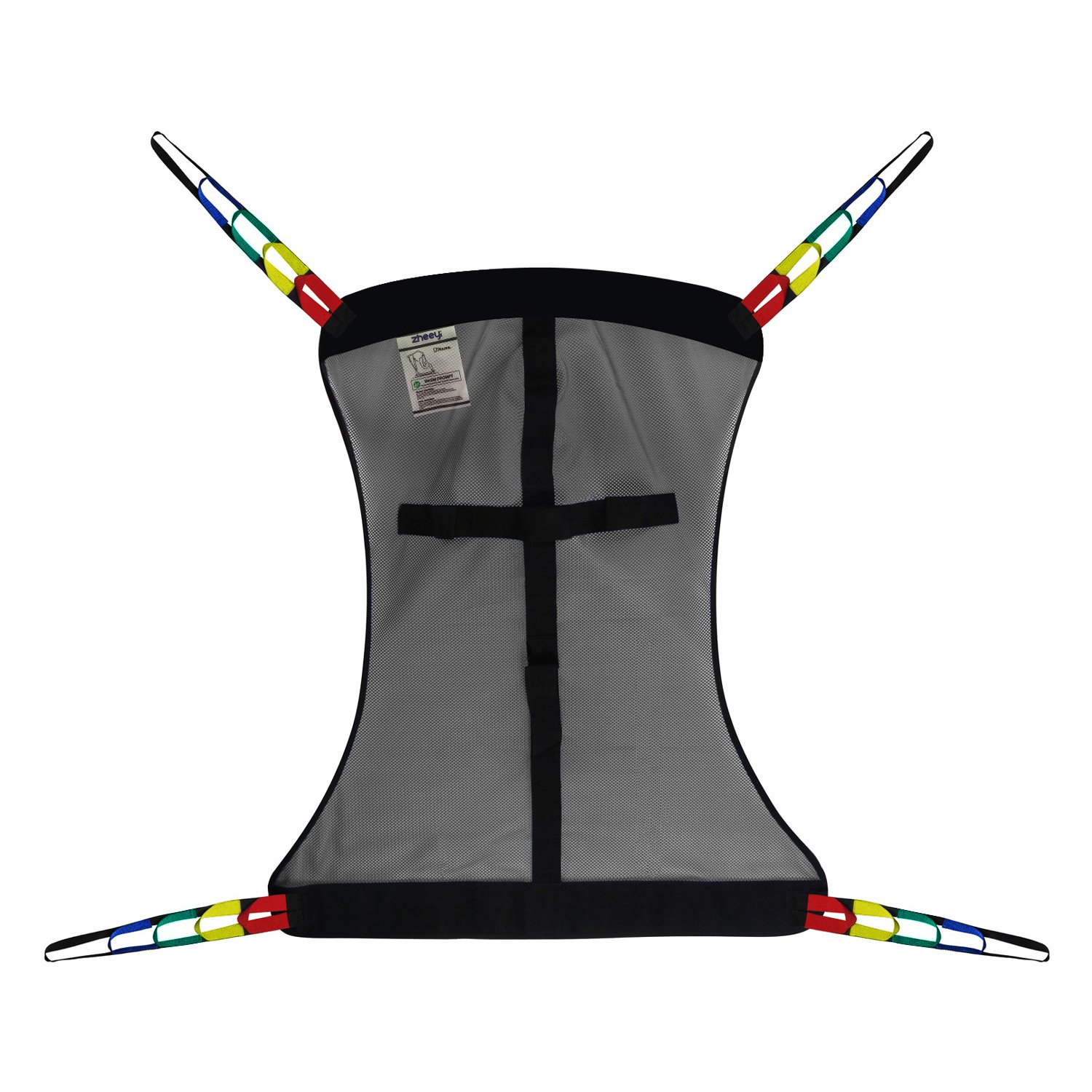 Full Body Patient Lift Sling, Mesh Without Commode Opening, Medium (Gray)
