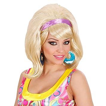 Peluca rubia años 60 pelo postizo mujer