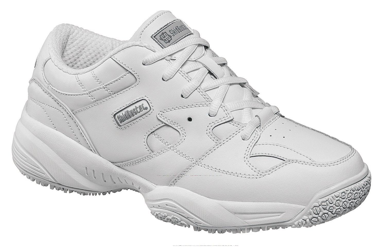Skidbuster 5056 Women's Leather Comfort Slip Resistant Athletic Shoe,White,8.5 W US